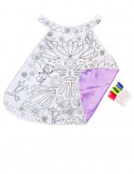 Capa lavable reversible violeta para pintar niña