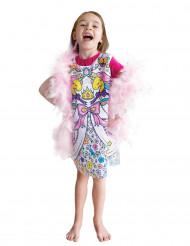 Vestido lavable para pintar princesa niña