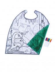 Capa lavable reversible para pintar niño