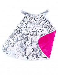 Capa lavable reversible para pintar castillo niña