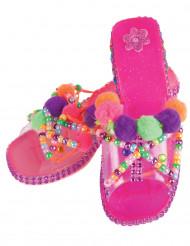 Zapatos de princesa personalizables de color rosa niña