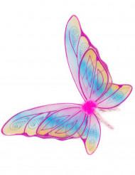Alas de mariposa rosa con purpurina niña