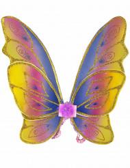 Alas de mariposa pastel con purpurina