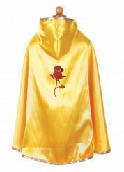 capa reversible dorada y roja niña