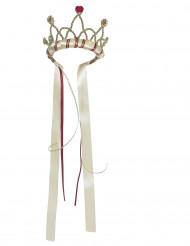 Corona reina medieval beis niña
