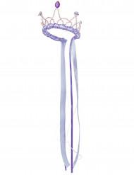 Corona de reina medieval lila niña