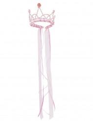 Corona de reina medieval rosa pastel niña