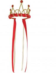 Corona de reina medieval roja niña