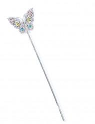 Varita hada mariposa multicolor niña