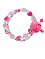 Pulsera flor de color rosa niña
