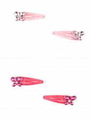 2 Horquillas rosas mariposas niña