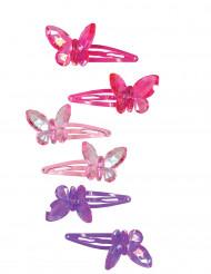 2 Horquillas mariposa niña