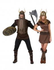 Disfraces de pareja Vikinga para adultos