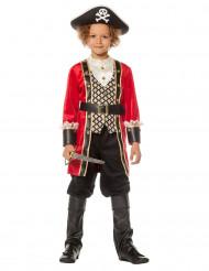 Disfraz capitán pirata de lujo para niño