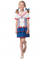 Disfraz marinera rayado para niña