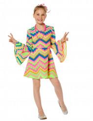 Disfraz disco fosforescente rosa y azul niña