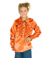 Camisa naranja con volantes niño
