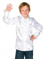 Camisa blanca con volantes niño