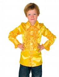 Camisa amarilla con volantes niño