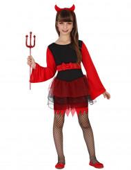 Disfraz demonio con volantes rojos