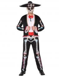 Disfraz mexicano colorido hombre Día de los muertos