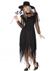 Disfraz bruja con encaje mujer Halloween
