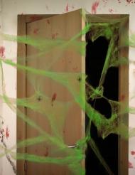 Decoración telaraña verde con arañas 20 g Halloween