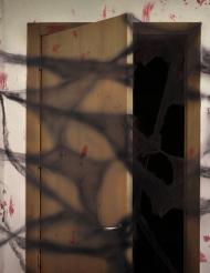 Decoración telaraña negra con arañas 20 g Halloween
