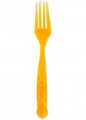 5 Tenedores naranjas con calavera 18 cm Halloween