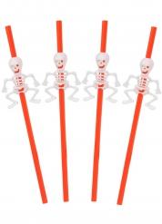 5 Pajitas esqueleto 29 cm Halloween