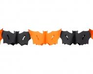 Guirlanda murciélago negro y naranja 3 m Halloween
