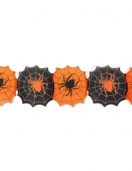 Guirnalda de papel telaraña 240 cm Halloween