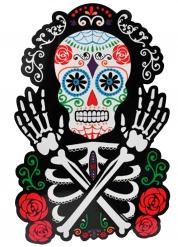 Decoración mural calaveras coloridas 38 x 25 cm Día de los muertos