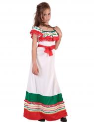 Disfraz vestido largo mejicano niña