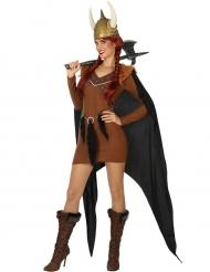 Disfraz jefe de tribu vikingo mujer