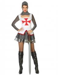 Disfraz de guerrera medieval cruzadas mujer