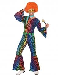 Disfraz disco leopardo multicolor hombre