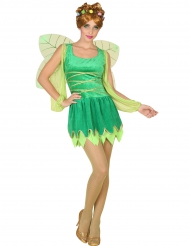 Disfraz hada sexy verde mujer