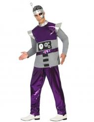 Disfraz de robot violeta hombre