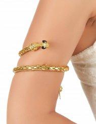 Brazalete de brazo serpiente dorada adulto