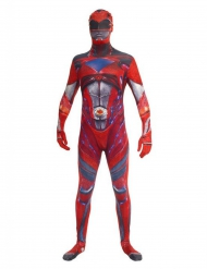 Disfraz rojo Power Rangers™ deluxe adulto Morphsuits™