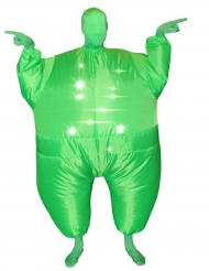 Disfraz inflable y luminoso verde adulto Morphsuits™