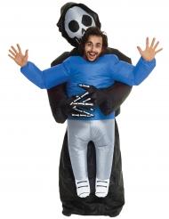 Disfraz hombre atrapado por segadora adulto Morphsuits™ Halloween