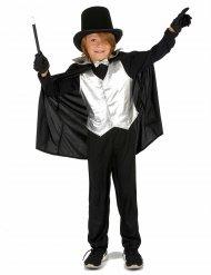 Disfraz de mago plateado niño
