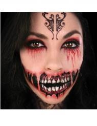 Tatuaje temporal sonrisa demoníaca adulto