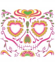 Tatuaje temporal para la cara Día de los muertos mujer