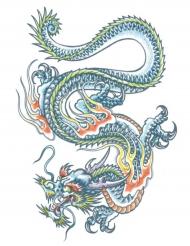Tatuaje efímero dragón cuerpo adulto
