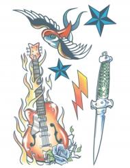 Tatuaje efímero estrella del rockcuerpo adulto