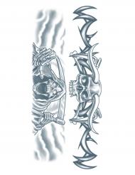 Tatuaje efímero segador adulto