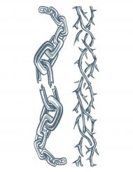 Tatuaje efímero cadenas adulto